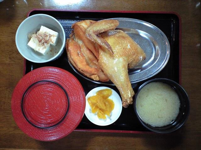 グルメ:なるとの鶏定食
