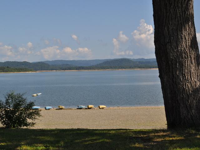 風景:とある湖の単なるの寄り道