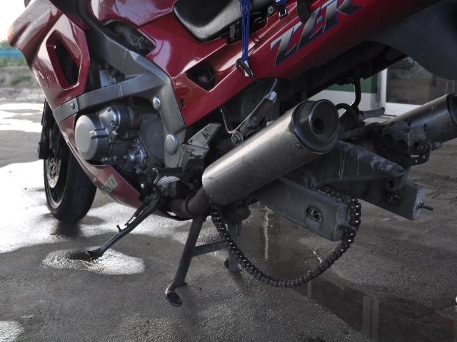 バイク:突貫で応急処置