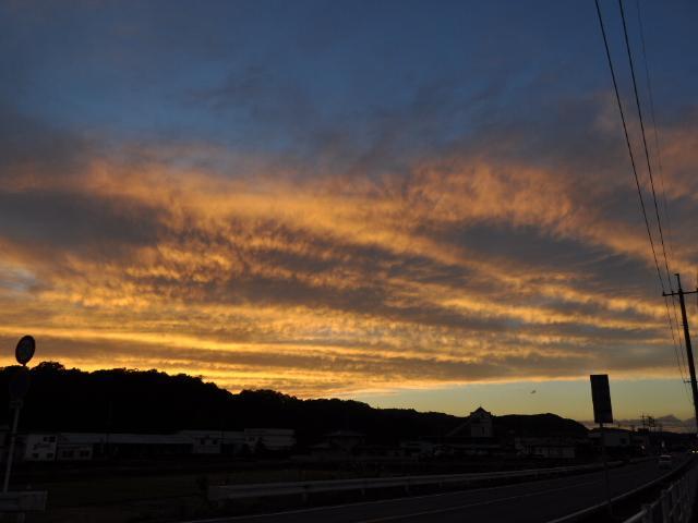 風景:今日の夕景