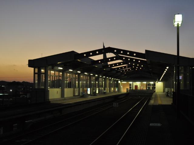 鉄道:今日の夕景