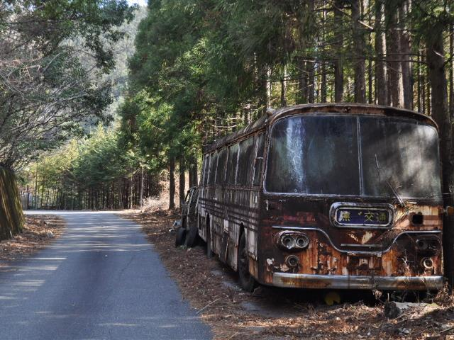 廃車@とある紀州路の廃バス