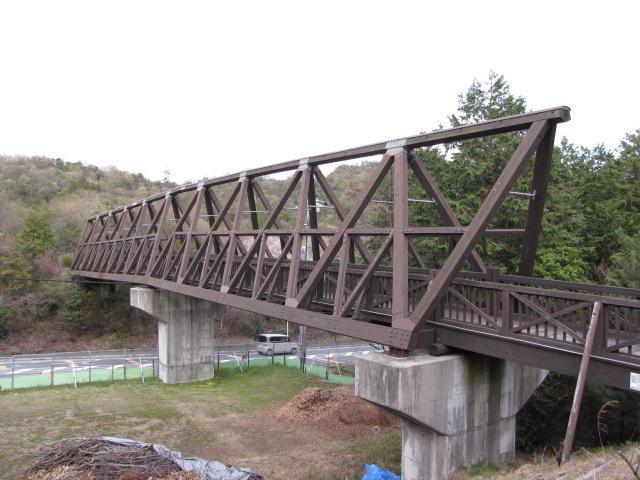 三弦橋@近江鉄道は大変なトラス橋を残して行きました 木造三弦トラス橋です