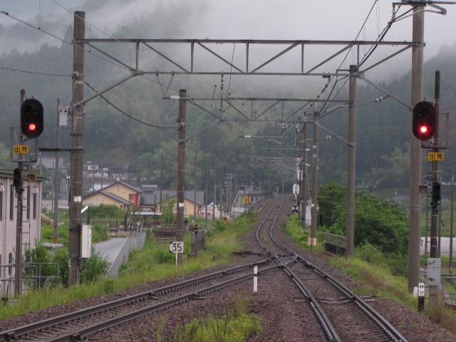 鉄道@大江駅 生野の道の 遠ければ まだ海も見ず  天橋立駅