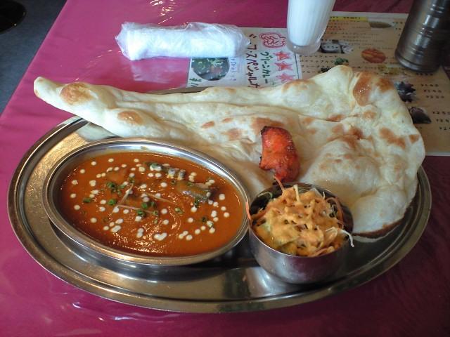 グルメ@西明石駅近くのインド料理屋アナンダのオクラナンカレー
