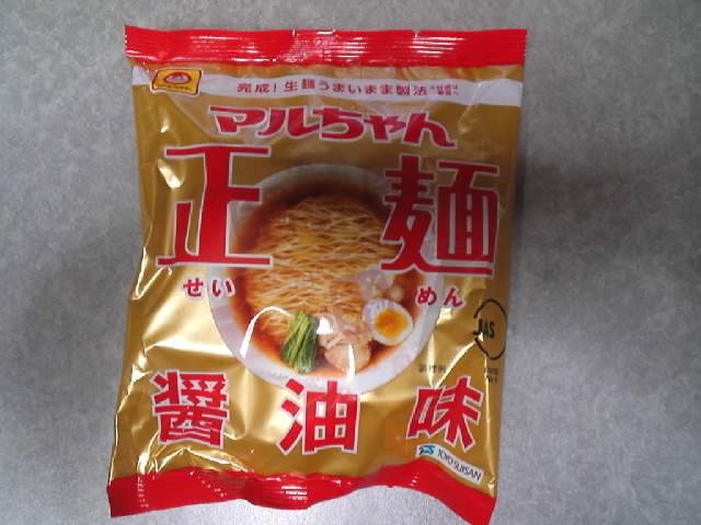 グルメ@今日のラーメニング マルちゃん 正麺 醤油味
