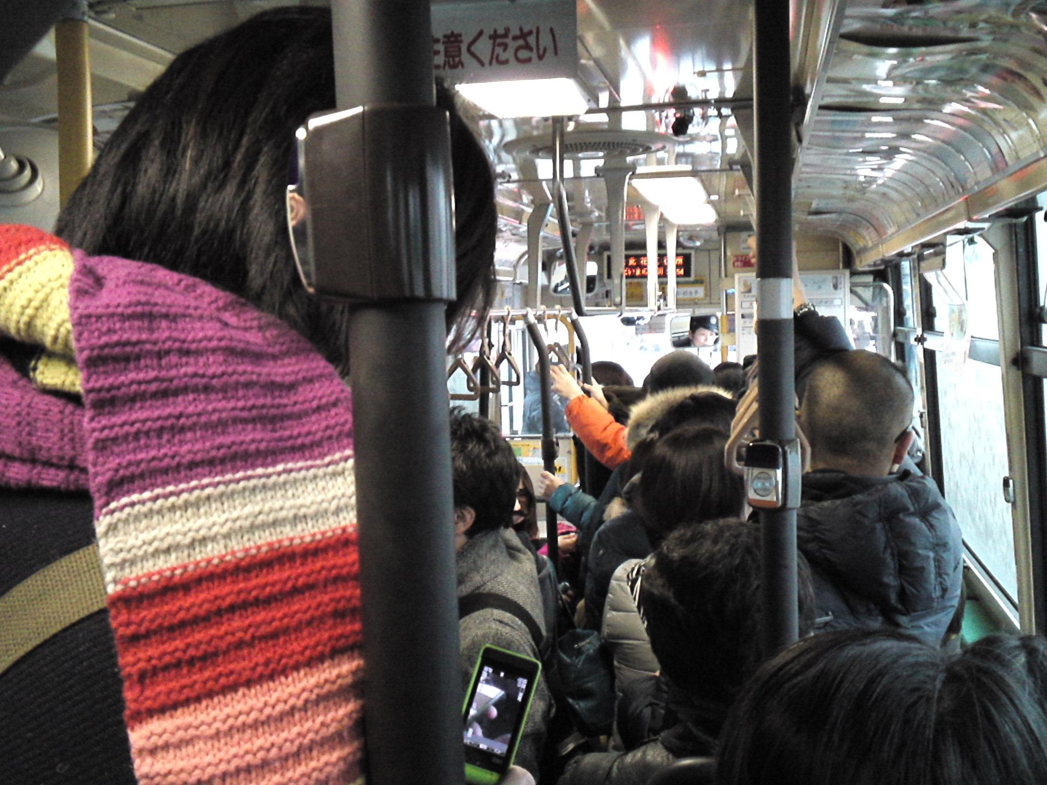 閑散とした路線バスが突然満員に! #jcttour