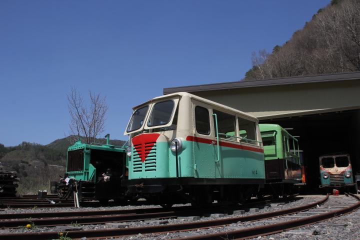 廃線@幸運なことにサービスで森林鉄道の臨時列車(試運転)に乗せて貰えた