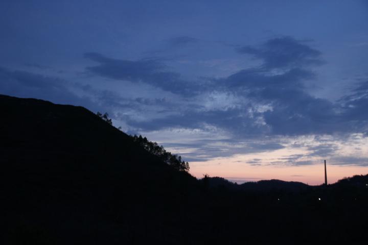 炭鉱@今日の夕景