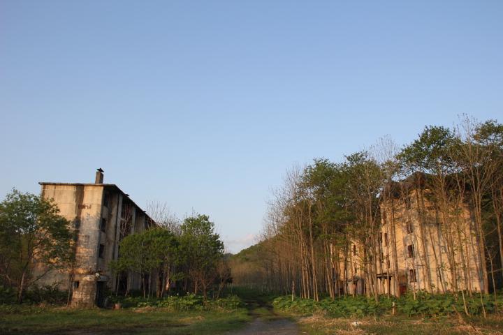 団地@とある炭鉱の炭住改良住宅