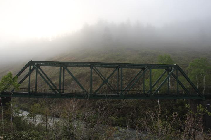 廃線@霧の雨煙別橋梁