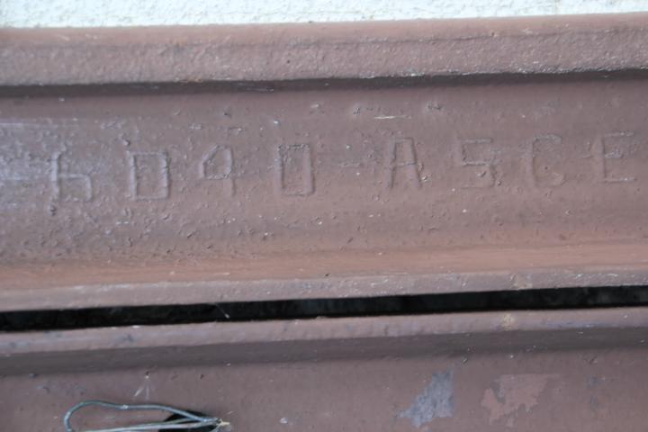 鉄道@ちなみに清水沢駅の壁面の古レールはこんな刻印でした 後は古レールクラスタの方々にお願いしよう