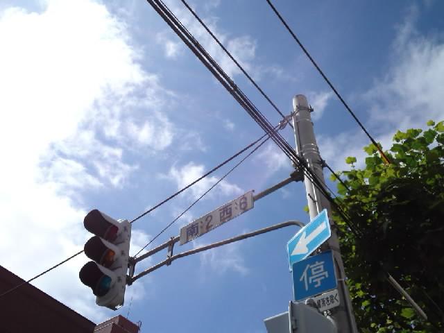 隣の交差点の信号機は普通、というかコレはコレでそろそろ懐かしく思えるほど標準的だけど