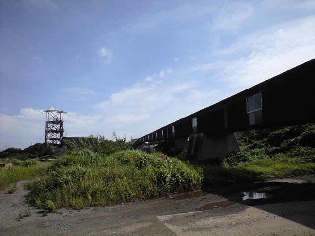 #Jheritage長崎産業遺産視察勉強会 池島炭鉱1番方(巻上げ櫓遠景)