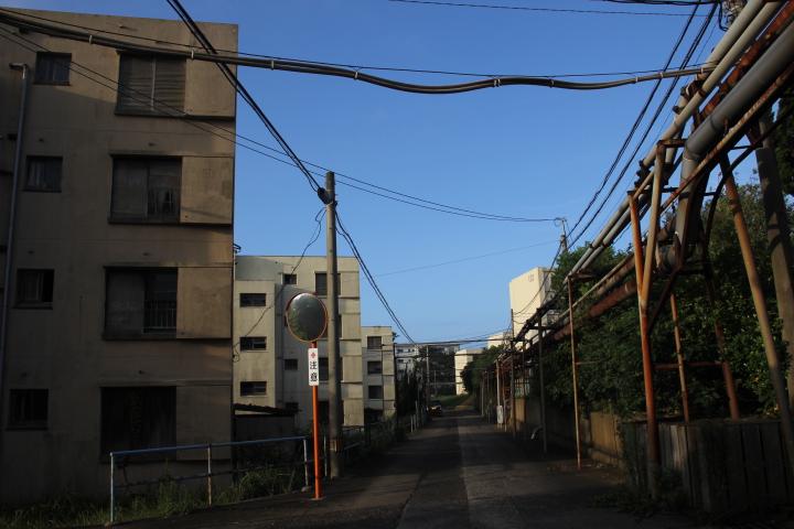 #Jheritage長崎産業遺産視察勉強会 スチームパンク的な団地風景(池島と釧路でしか見たことないけど)