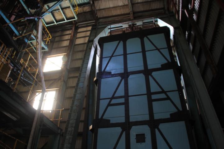 #Jheritage長崎産業遺産視察勉強会 30人×3段の90人乗りの立坑ケージはスカイツリーのエレベータより高速