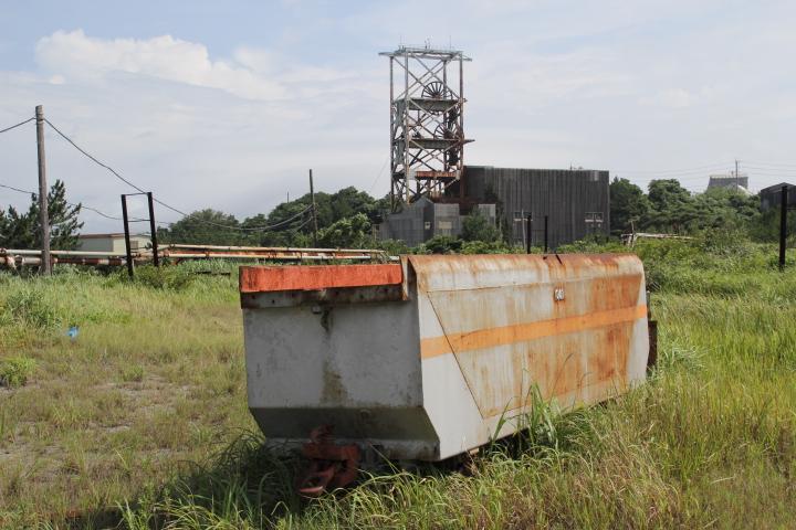 #Jheritage長崎産業遺産視察勉強会 鉱山BLと底開き炭車と巻揚げ櫓とエンドレス