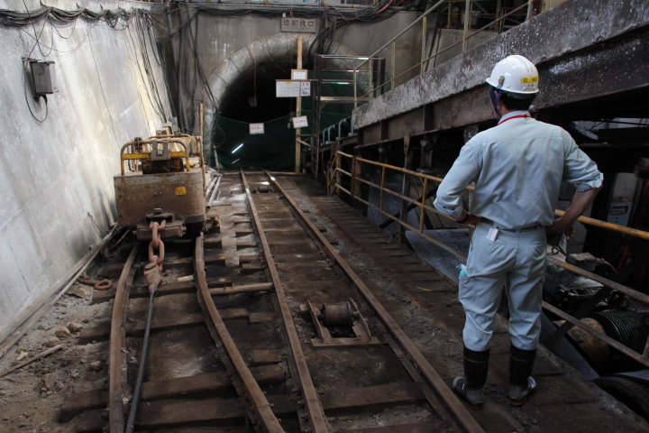 #Jheritage長崎産業遺産視察勉強会 斜坑と坑夫の図