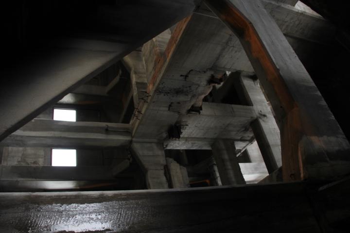 とある炭鉱の立坑櫓(ワインディングタワー) ※特別な許可を頂いています #Jheritage長崎産業遺産視察勉強会