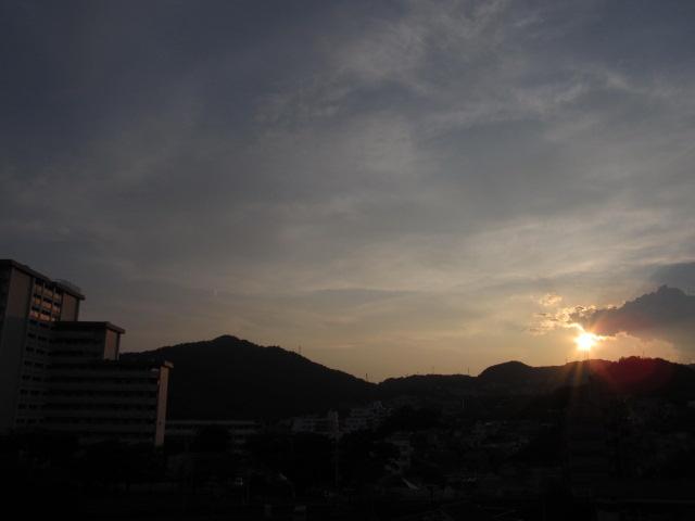 今日の夕景with団地