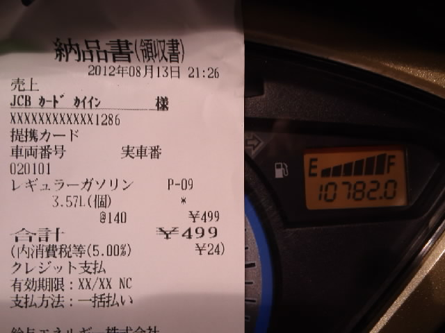 #コミケ #ヨコハマ買い出し紀行 #原チャリで来た #公道最安理論 およぞ207kmで3.6L 60km/Lに届くかどうか