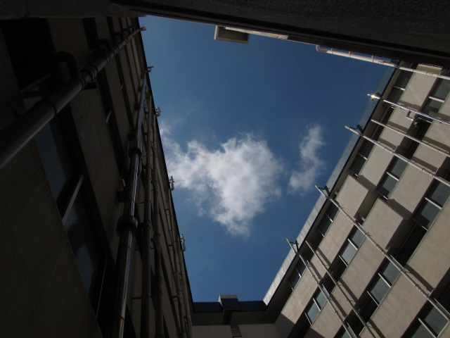 建築@Vツインコリダーの空 #団地
