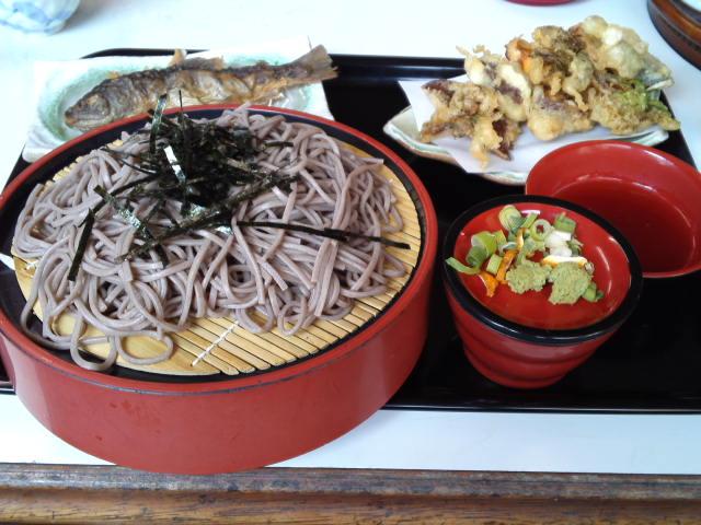 本日の蕎麦紀行 井川駅前の清流盛りそば