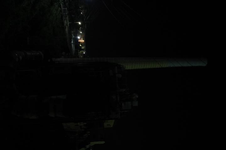 #長崎産業遺産視察勉強会 池島炭鉱のパワースポット(発電所)の夜景