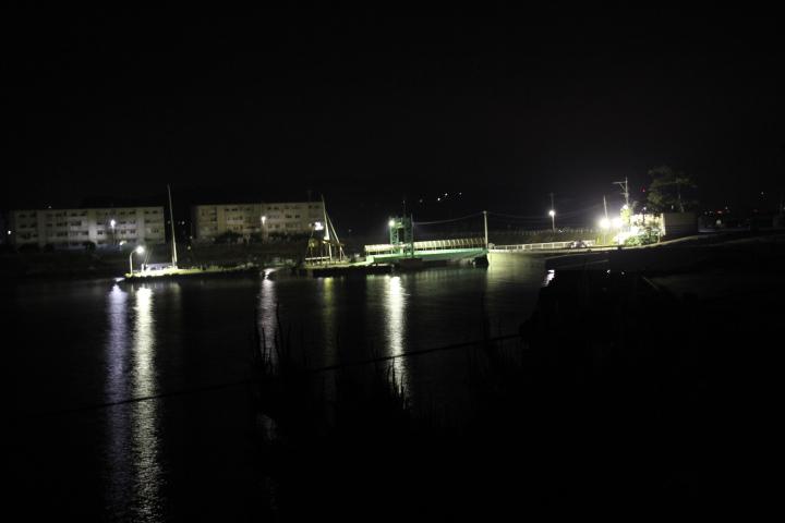 #長崎産業遺産視察勉強会 池島炭鉱の港の夜景