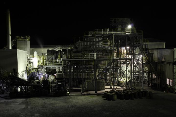 #長崎産業遺産視察勉強会 池島炭鉱の工場夜景