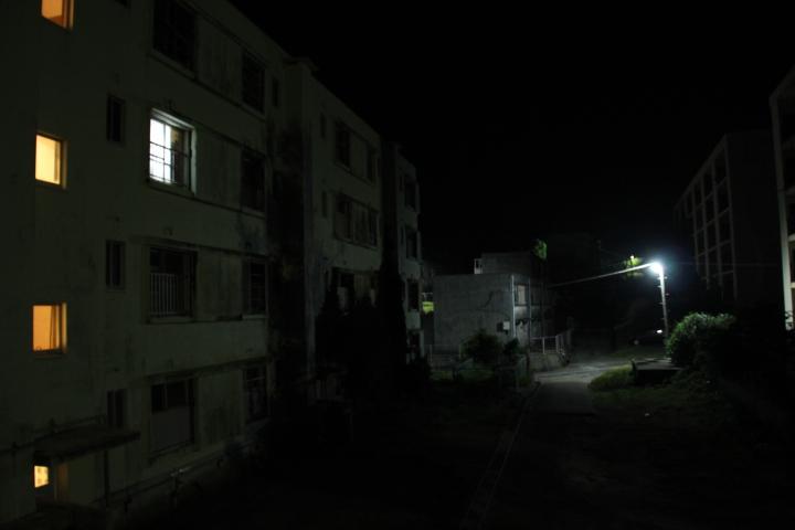 #長崎産業遺産視察勉強会 池島炭鉱の団地夜景
