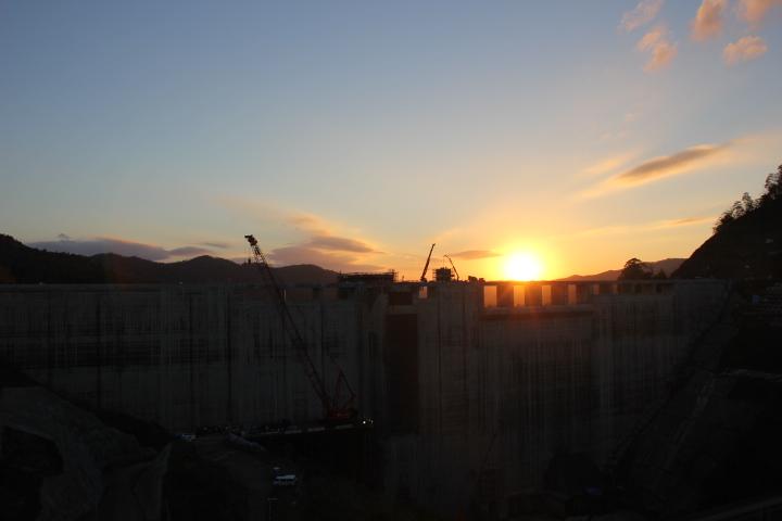 今日の夕景 #未成ダム ※特別な許可を得ています