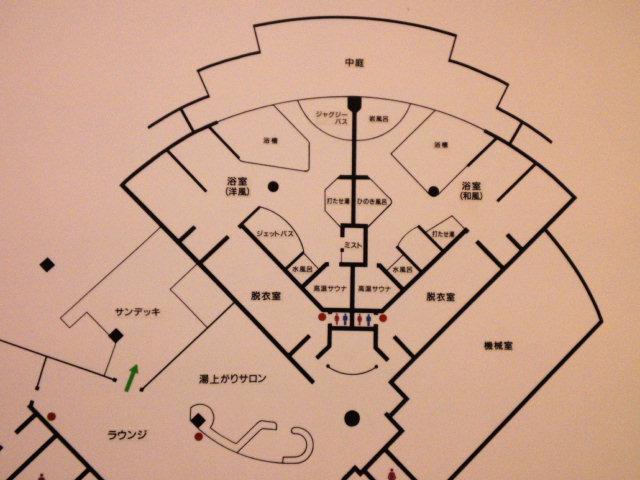 上士幌温泉の間取り なかなかいい風呂です