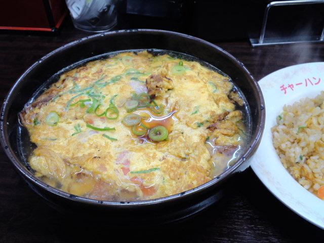 チャーミングチャーハンの天津麺セット #ラーメニング
