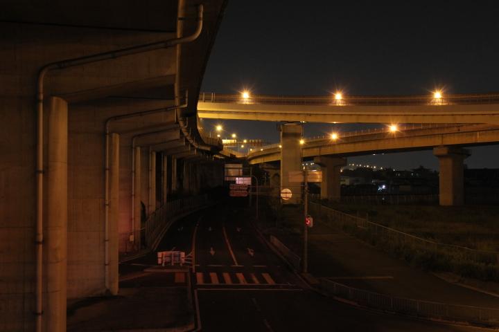 ジャンクションの醍醐味は、曲がりくねった桁よりも、物静かに連続している橋脚だと思う ※個人の感想です