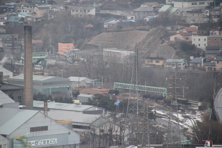 廃線@幻の羽幌炭鉱鉄道DD13型1号機と噂される御崎駅に留置のヂーゼル機関車(夕張鉄道の同型機らしき姿も)
