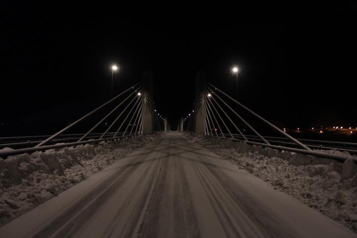 土木@未成ダム湖に架かるPCエクストラドーズド橋