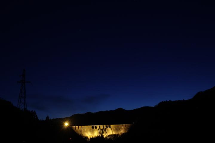 ダム@津軽ダムのライトアップ