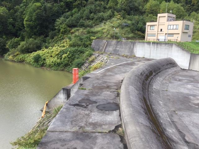 変わった洪水吐きのダムだな