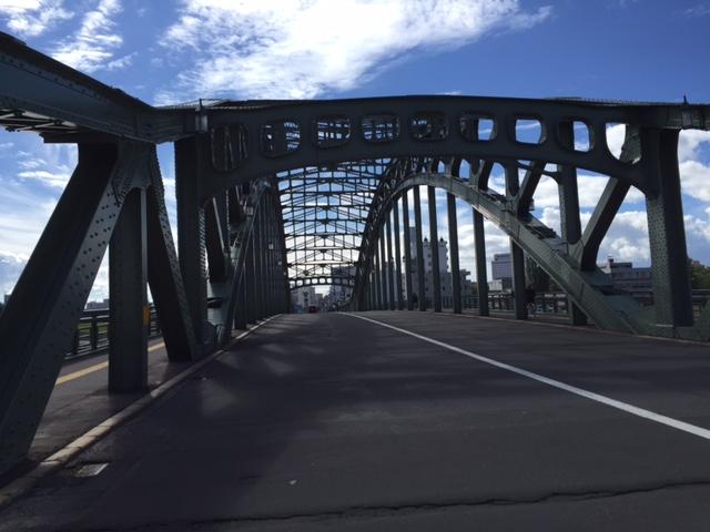今日のタイドリブルアーチ橋