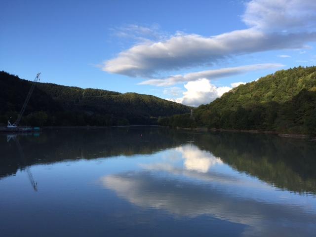 今日のダム湖(清水沢ダム)