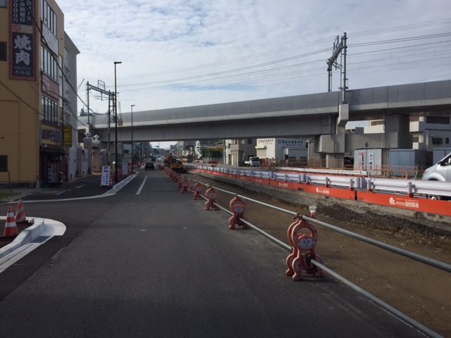 山陽電鉄と国道2号線の立体交差入れ替え工事、未だに事後処理で工事やってるのな