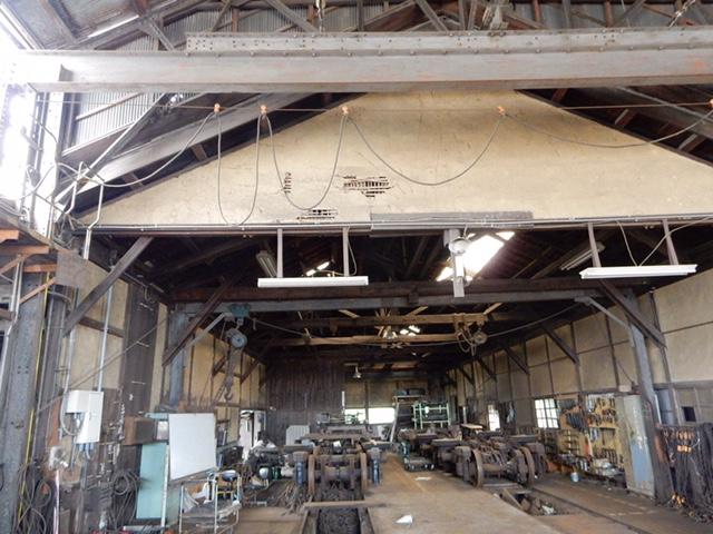 一畑電鉄の検車場 築100年の土壁造りで日本で現存するのは他は富山地鉄くらい(すでに現存してないかも?)とのこと