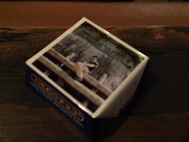 #大阪廃道ナイト #ロフトプラスワンウエスト 配られたチロルチョコ、よっきれんブロマイド付きの特製品だった