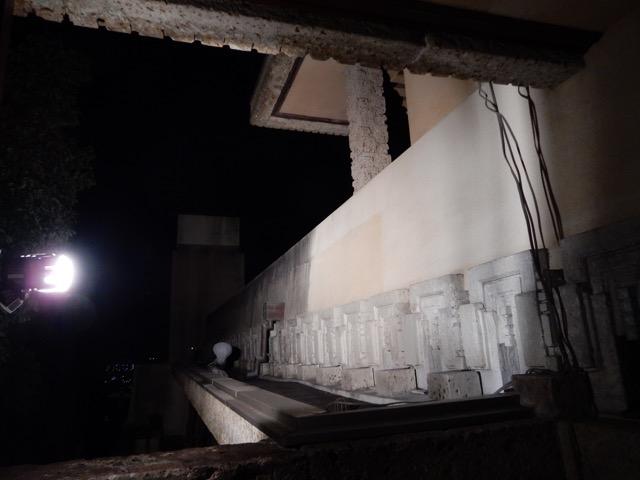#ヨドコウ迎賓館 飾り石はセメントと大谷石の粉末を混ぜた物、当時の配合を再現して作り直した